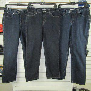Lot of 3 Bandolino Jeans Slim sz 8